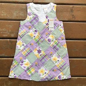 Gymboree Floral Checker Summer Dress *NEW*